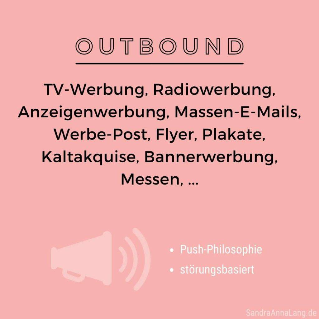 Outbound Marketing Infografik